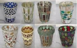 Mosaic Vas  Glass Candle Holder
