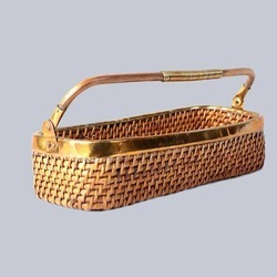 Rectangular Wicker Fruit Basket