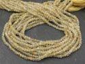 Golden Rutilated Quartz Faceted Rondelle Beads Strands