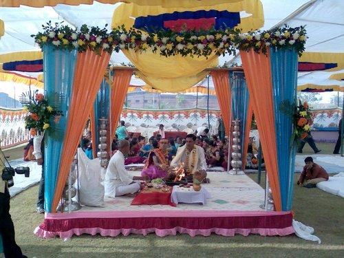 Manufacturer of merrage mandap decoration wedding decoration by read more merrage mandap decoration junglespirit
