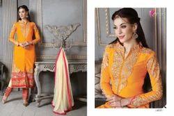 Pure Silk Embroidered Salwar Kameez, प्योर सिल्क ...