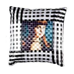 Black & White Check Cushion