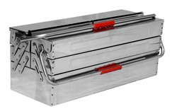 Stainless Steel Cantilever Tools Box Five Compartment.