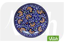 Vaah Blue Pottery Wall Decor Plate