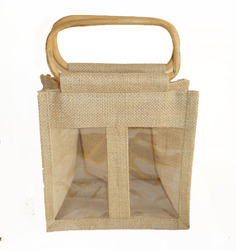 Jute Window Gift Bag