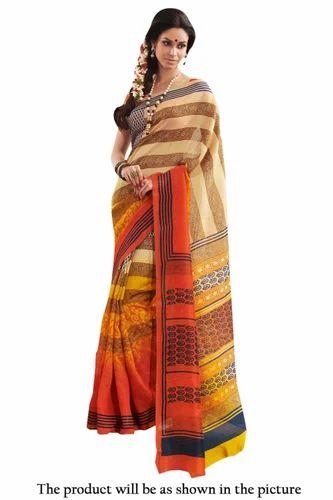 dc7a9ff87c Printed Bhagalpuri Silk Casual Wear Saree, भागलपुरी ...