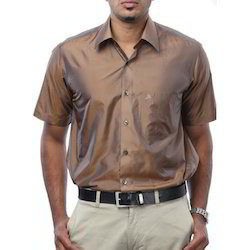 Light Brown Silk Shirt