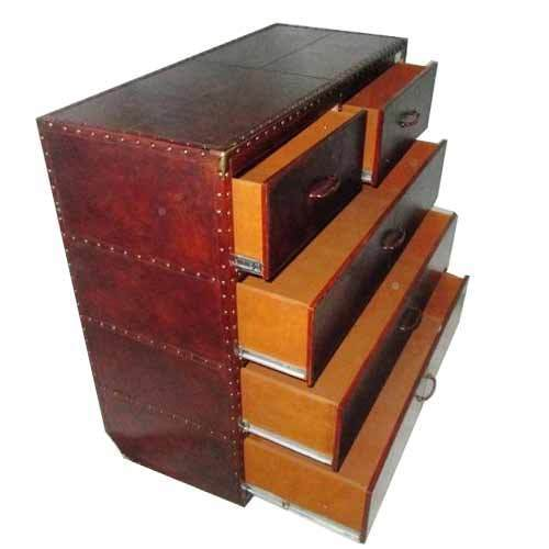 Attractive Customize Leather Cabinet