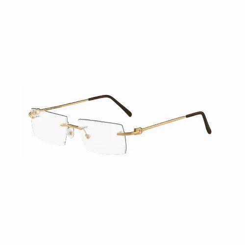 eeb6f571b18 Gold Rim Less Optical Gold Spectacle Frame - Balaji Exim