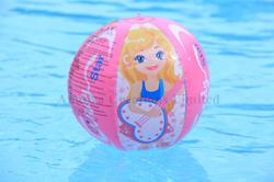 ACL Brown, Tea Wood Cindy Star Beach Ball, Size: 20 Inch