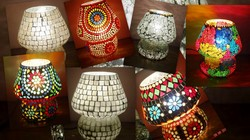Decorative Items Hand Made Glass Lamp Manufacturer from New Delhi