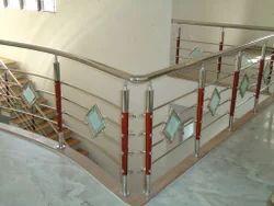 Stainless Steel 4k Designer Wooden Baluster