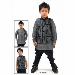 Full Sleeves Kids Kurta