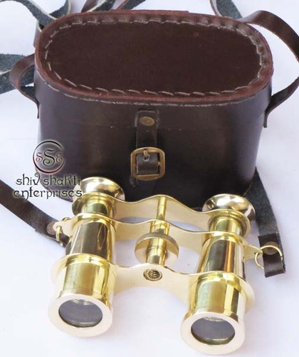 Binocular With Leather Case