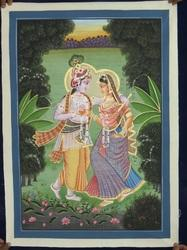 cloth radha krishana canvas painting