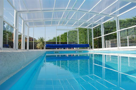 Swimming Pool Covering Polycarbonate Sheets Rainbow