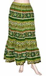 Designer Long Cotton Skirt