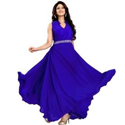 8268e0d36 Women s Gown - Women s Georgette Gown Ecommerce Shop   Online ...