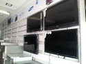 Stainless Steel Wall Mounted Led/lcd Tv Display Rack