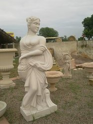 White Sandstone Statue, For Exterior Decor, Size: Height-60