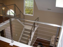 Stallion Silver Wire Rope Railing