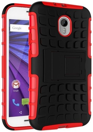 buy online d75b8 30da9 Crazy4gadget Back Cover For Motorola Moto G (3rd Gen) Red