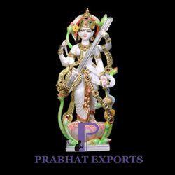 Divine Goddess Saraswati Marble Statue