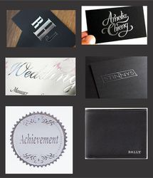 Silver Foiling Works for On Leather