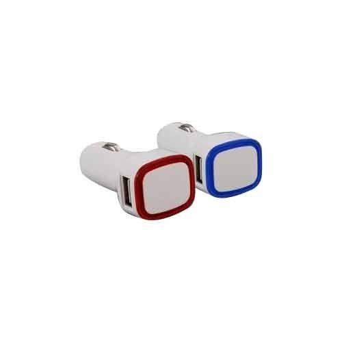 White USB Car Charger, 5v