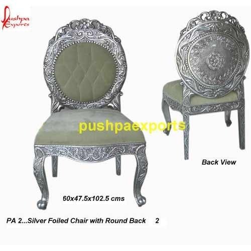 Silver Wooden Carved Chair