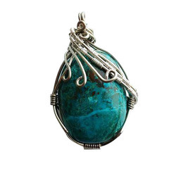 Chrysocolla pendant chrysocolla ka jhumka manufacturers suppliers how it works mozeypictures Image collections