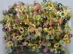 Multi Tourmaline Gemstone Flower Chain