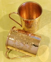 Solid copper Moscow Mule Copper Mug Engraved 16 Oz