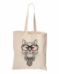Sweet Pet Cat Printed Organic Cotton Bag
