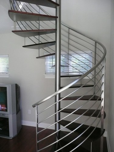 Awesome Spiral Stainless Steel Staircase