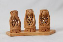 Wooden Jaali Monkey Set