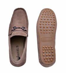 Beige Suede Buckle Shoe