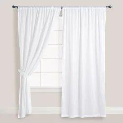 White Cotton Window Curtain