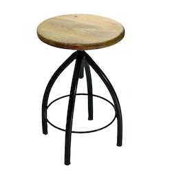 Wooden Round Bar Stool