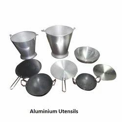 Natural Stainless Steel Aluminium Utensil, Packaging Type: Carton
