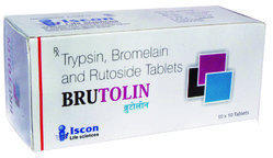 Brutolin (alu-alu) Tablet ( Trypsin 48 mg bromelain 90 mg rutoside 100 mg )