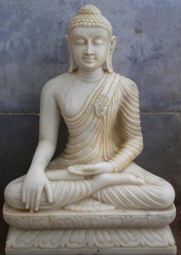 Marble Buddha Statue मार्बल बुद्धा स्टेचू S R