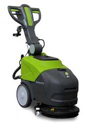 Compact Walk Behind Scrubber Drier For Floor Cleaning
