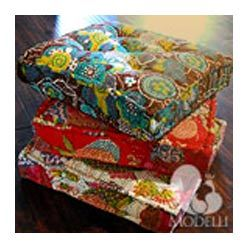 Kantha Floor Cushion, Throw Pillows And Decorative Floor Cushions ...