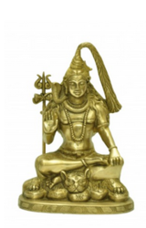 Golden (gold Plated) Elegant Brass Bhagwan Shiv Sculpture