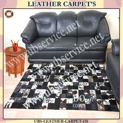 Leather Carpet Collection - Black & White