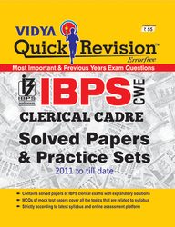 Quick Revision IBPS Clerical Cadre Solved Papers & Practice
