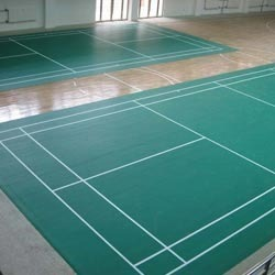 Badminton Court Synthetic Flooring Surface ख ल क फर श