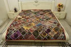 Handmade Thari Antiq Decorative Wallhanging Bed Cover