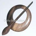 Wooden Shawl Pin